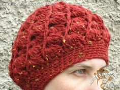 How to crochet a swirl pattern beanie (Half shell stitch) - subtitulos en espanol - YouTube