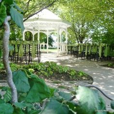 Beautiful Outdoor Ceremony In The Gazebo At Chantilly Mansion Reception Center Layton Utah