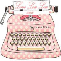 cute #typewriter graphic littleloulouhandmade