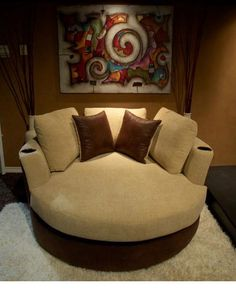 oversized round swivel chair with cup holdertop picks