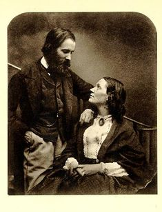 Civil War-era couple; love this pic - very different from most of this time period, usually very stiff and facing forward with no smiles. Very sweet.
