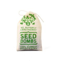 Practice random acts of gardening with these seed bombs! Five gumball-sized balls are packed into each 3 x 4 1/2-inch pouch, ready for gift-giving.