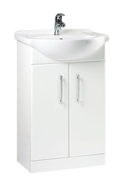 bq gloss white vanity basin set 440mm deep 570mm wide bathroom ideas pinterest white vanity vanity basin and basin - Bathroom Cabinets B Q