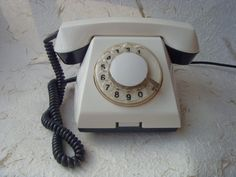 Soviet Vintage White Rotary Telephone Made in USSR in by Astra9