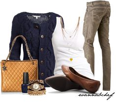 """Comfy Cords and Cardigan"" by wannabchef on Polyvore"