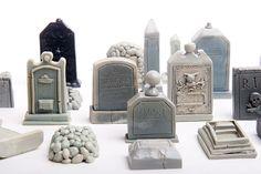 23-piece Mini cimetière ou cimetière Kit pour votre Terrarium ou jardin ou aquarium ou autre. La main de Poly résine et peint à la main