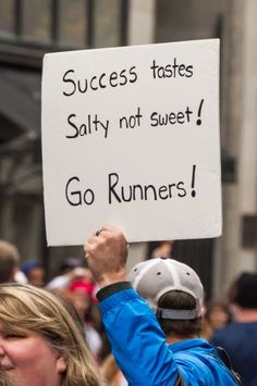 Success tastes salty...