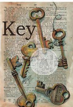 Dictionary Art - Key