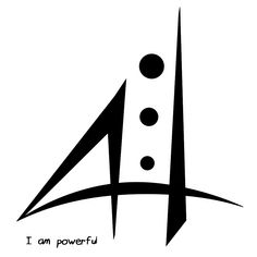 """Sigil Athenaeum - """"I am powerful"""" sigil Made with lavender-lunar-witch's Number Grid method. Wiccan Symbols, Mayan Symbols, Symbols And Meanings, Viking Symbols, Egyptian Symbols, Ancient Symbols, Viking Runes, Hawaiianisches Tattoo, Hand Tattoos"""