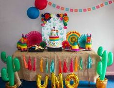 "Fiesta / Mexican / Birthday ""Daniela's first fiesta! Mexican Fiesta Birthday Party, First Birthday Party Themes, Fiesta Theme Party, Baby Boy First Birthday, Festa Party, Mexican Party, Boy Birthday Parties, Birthday Ideas, Fiesta Cake"