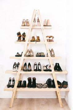 Ladder Shelf Shoe Storage