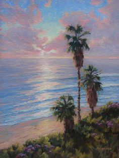 An 18 x oil on linen. One of the 365 reasons I live in Encinitas, CA.Sunsets at Swami's Beach. Limited Edition Prints, Art Oil, Vintage Posters, Sunsets, Giclee Print, Fine Art, Landscape, Live, Gallery
