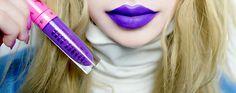 "From Jeffree Star's new cosmetics line, ""I'm Royalty"" purple matte lippie!"