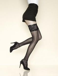 Gerbe Passion Thigh Highs  gbj2n passion thigh highs black-floral lace