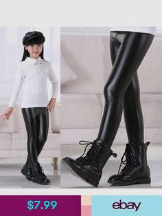 kids in leder Kids Girls, Baby Kids, Crochet Slippers, Leather Leggings, Sewing Clothes, Leggings Are Not Pants, Spring Outfits, What To Wear, Kids Fashion