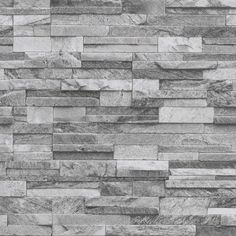 S Origin L Wallpaper Non-woven Stone Optic Gray in Home Improvement, Colors, Colors - Wallpaper Ideas Faux Stone Walls, Stone Accent Walls, Slate Stone, Brick Wallpaper, Textured Wallpaper, Textured Walls, Grey Stone Wallpaper, Brick Pattern Wallpaper, Stacked Stone Backsplash