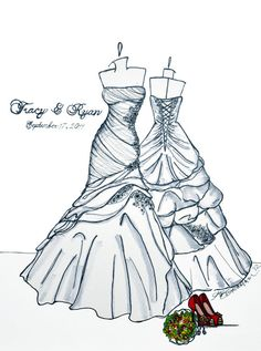 sketch of your wedding dress!