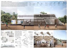 Temporary Architecture, Sacred Architecture, Architecture Portfolio, Natural Architecture, Futuristic Architecture, Emergency House, University Of Cape Town, Architecture Presentation Board, Temporary Structures
