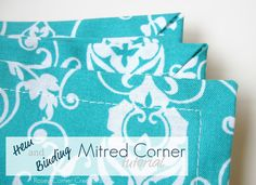 Great tutorial for mitered corners
