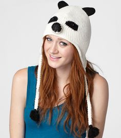 Knit Paco The Panda Hat from FredFlare $18