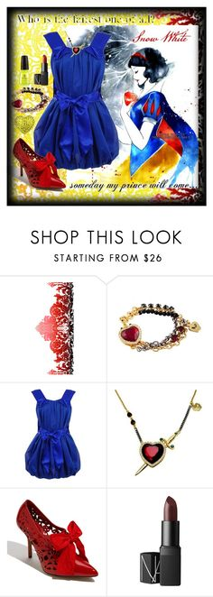"""Snow White"" by ghsdrummajor ❤ liked on Polyvore featuring BasicGrey, Timorous Beasties, Disney Couture, By Malene Birger, Moschino Cheap & Chic, NARS Cosmetics, Tarina Tarantino and Rachel"
