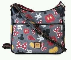 Dooney & Bourke Disney Mickey & Minnie Mouse Letter Bag #DooneyBourke #MessengerCrossBody