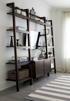 Sawyer Mocha Leaning 24 5 Quot Bookcase In 2019 Office