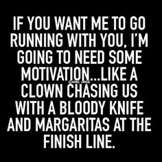 Ugh I hate running, but my hubby insists we run together. We do and usually I can out run him once I get started
