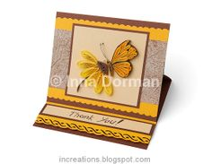 """""""Thank you"""" and bell-flowers quilling cards at Inna's Creations Crafts, Kids, Quilling"""
