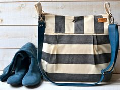 Waterproof Black  Diaper bag/Messenger bag #etsy