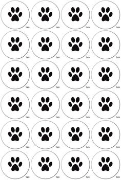 Paw Prints 24 Edible Cupcake Toppers - Fairy Cake Toppers - 45mm / 1.75 Inch - Printed Using Edible Inks on Premium 0.7mm Rice Paper >>> Remarkable product available  : baking decorations