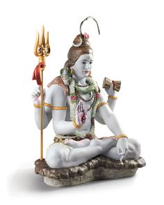 Shop Lord Shiva Figurine from Lladro at Horchow, where you'll find new lower shipping on hundreds of home furnishings and gifts. Good Morning Flowers, Good Morning Images, Photos Of Lord Shiva, Shiva Tattoo Design, S8 Wallpaper, Wallpapers, Buddha Temple, Om Namah Shivaya, Shiva Shakti