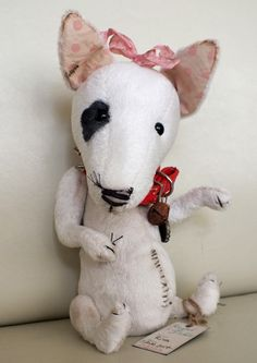 """Rita"" the Bull Terrier. By Ragtail n Tickle."