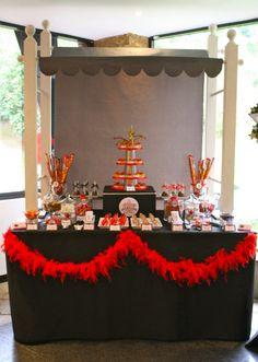Hollywood Red Carpet Inspiration Dessert Table