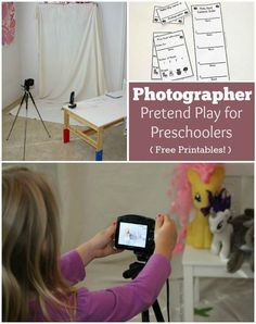 Fun Dramatic Play Prompt: Photographer Pretend Play for Preschoolers! Includes free printables!