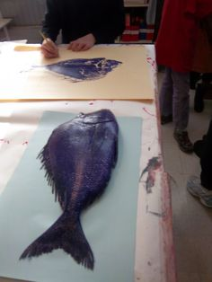Gyotaku is the art of taking prints directly from fish.