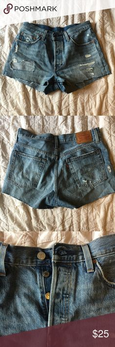 Levi's 501 high waisted Denim shorts Great condition. Only worn a few times Levi's Shorts Jean Shorts