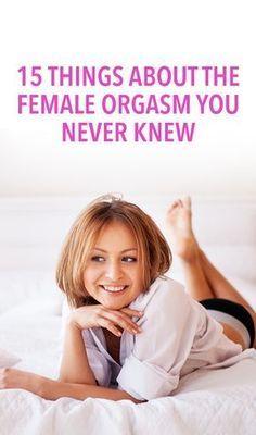 Female orgasm and health