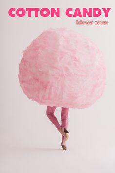 DIY Cotton Candy Halloween Costume