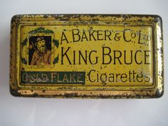 Excited to share the latest addition to my #etsy shop: King Bruce Gold Flake Cigarette tin (50/empty) bb A Baker & Co Ltd c.1910 http://etsy.me/2o3IqgM #vintage #collectables #tobaccocollectibles
