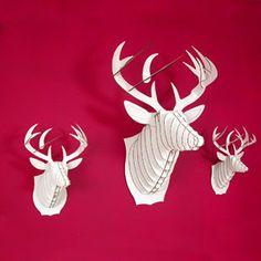 Cardboard Deer Trophies