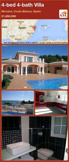 4-bed 4-bath Villa in Moraira, Costa Blanca, Spain ►€1,850,000 #PropertyForSaleInSpain