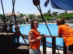 Joy aan het werk in hotel Kipriotes