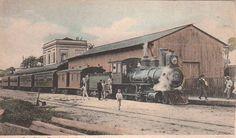 Museu Ferroviário Virtual - Antiga foto da estação de Belém/PA