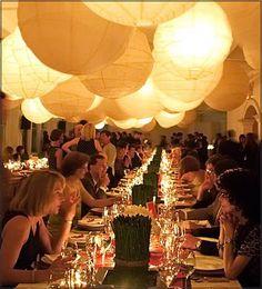 soft glow LED paper lanterns