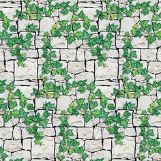 Ivy Wall Patterned Flat Paper