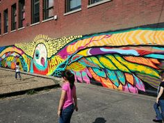 Playground mural by Joseph Sentrock Perez, located in Chicago's Little Village…