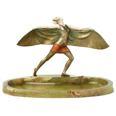 """Art Déco Figure """"Bat Dancer"""" by Ferdinand Preiss 