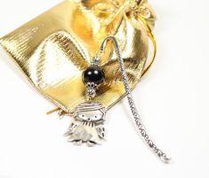 Bookmarks ANGEL silver with pearl, gift, communion Star Earrings, Drop Earrings, Star Jewelry, Light Purple, Communion, Bright Pink, Bookmarks, Wedding Jewelry, Amethyst