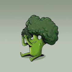 alexmdc: Broccoli getting cornrows - looking into why some some food is so much fresher then others. #thefreshestfoods #broccoli #illustration Follow us on Facebook http://ift.tt/1ZBR6Ym